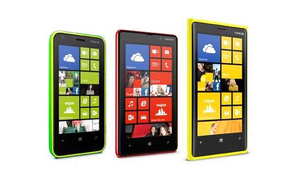 صورة تجميع هواتف نوكيا لوميا الجديدة - لوميا920 ولوميا820 ولوميا620