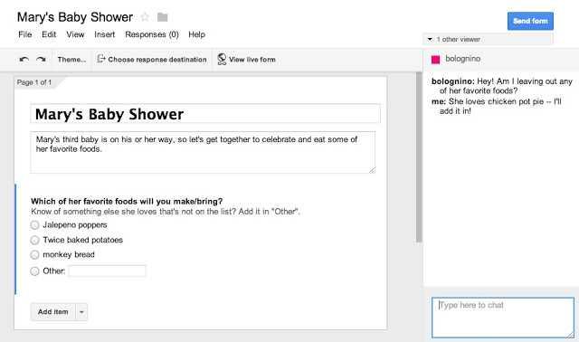 التعاون في إنشاء النماذج في جوجل درايف