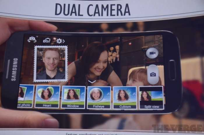 ميزة DUAL CAMERA في جالاكسي S4