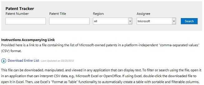 Microsoft-Patent-Tracker