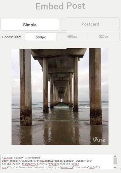 الآن يمكن للمستخدمين تضمين مشاركات Vine على المواقع وصفحات الإنترنت