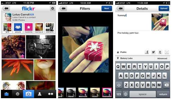 تطبيق فليكر لأجهزة iOS