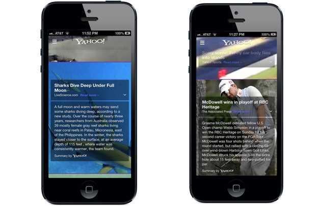 تحديث جديد لتطبيق ياهو لهواتف آيفون يعرض ملخصات للأخبار بطريقة Summly