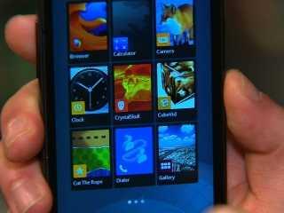صورة لواجهة نظام تشغيل موزيلا فايرفوكس للهواتف المحمولة