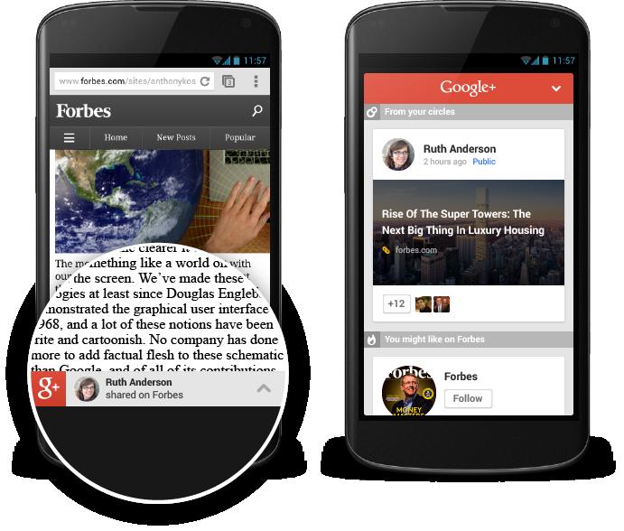 جوجل تطلق أداة توصية للمحتوى لمواقع المحمول تعتمد على جوجل بلس