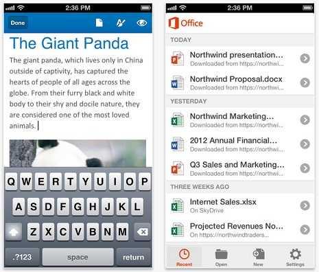مايكروسوفت تتيح لمستخدمي أوفيس لهواتف آيفون وأندرويد تحرير المستندات مجاناً