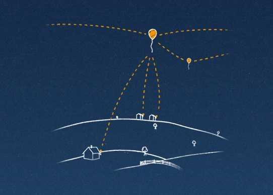 جوجل تعلن عن مشروع Loon الذي يستخدم شبكة مناطيد لتوصيل الإنترنت للمناطق النائية
