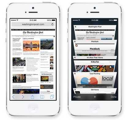 متصفح سفاري في iOS 7