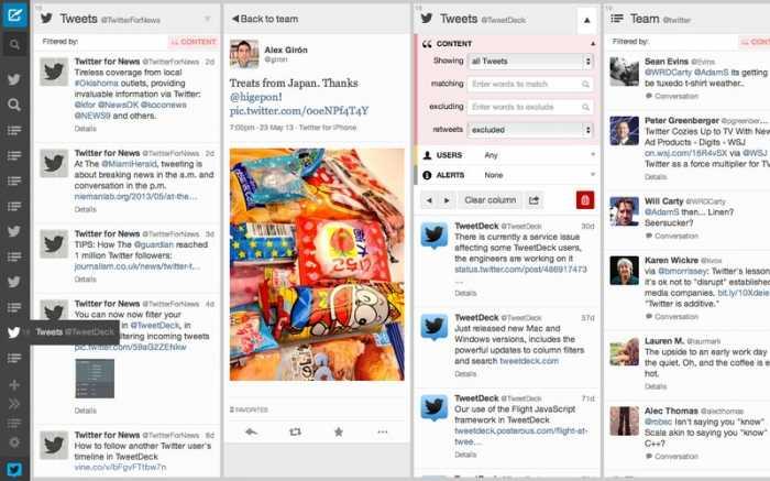 تحديث جديد لتطبيق TweetDeck لأجهزة ماك يضيف تحسينات على التصميم مع شريط جانبي
