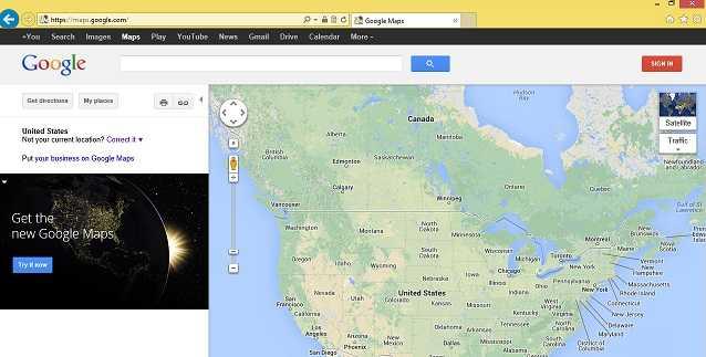 الإصدار الجديد من خرائط جوجل على الإنترنت2