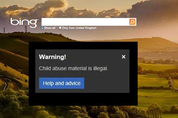 Bing سيعرض الآن نافذة تحتوي على تحذير إذا تم البحث عن صور تحتوي إعتداء على أطفال