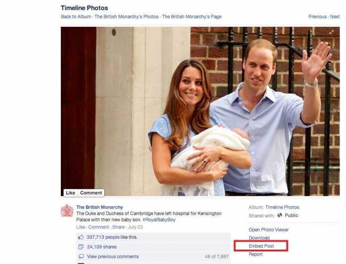 فيسبوك تتيح للمستخدمين تضمين المشاركات في مواقع الإنترنت