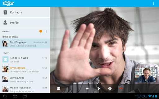 واجهة جديدة لتطبيق سكايب لأجهزة أندرويد