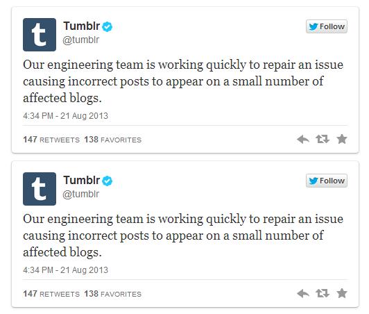 مشكلة تقنية في تمبلر تتسبب في ظهور مشاركات عشوائية في مدونات بعض المستخدمين