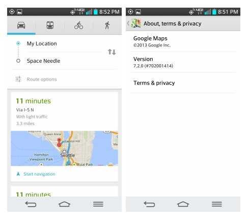 خرائط جوجل على أندرويد تحصل على تحديث جديد