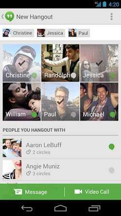 جوجل Hangouts لأجهزة أندرويد يحصل على تحديث جديد