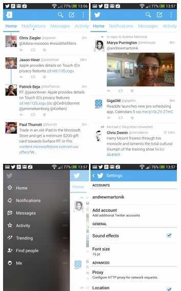 النسخة التجريبية من تويتر 5.0 لأندرويد بواجهة جديدة تماماً