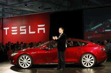 Tesla Motors CEO Elon Musk speaks during the Model S Beta Event held at the Tesla factory in Fremont