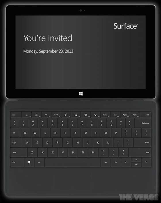 دعوة مايكروسوفت لحضور حدث surface 2