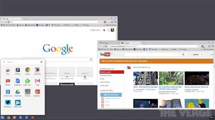 جوجل على تطوير نسخةمن نظام تشغيل كروم للعمل من داخل ويندوز8  -