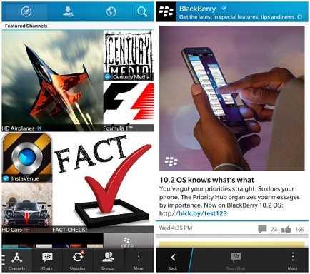 بلاكبيري تطلق BBM Channels رسمياً لهواتف بلاكبيري