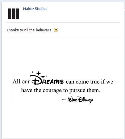 ديزني تشتري شبكة قنوات يوتيوب Maker Studios