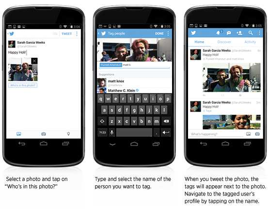 تحديث جديد لتطبيق تويتر يتيح الإشارة للأصدقاء في الصور ومشاركة 4 صور في نفس التغريدة