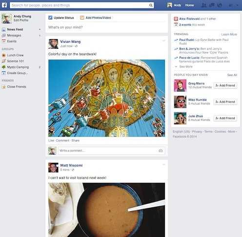 فيسبوك تكشف عن تصميم جديد للتايملاين