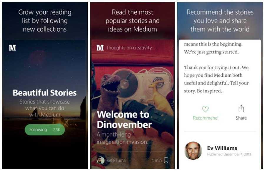 الإصدار الأول من تطبيق Medium لهواتف آيفون متوفر الآن