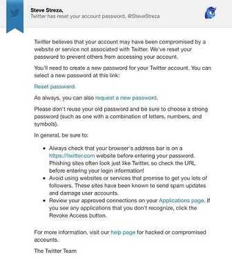 تويتر ترسل بالخطأ إشعارات لبعض المستخدمين لإعادة تعيين كلمة المرور