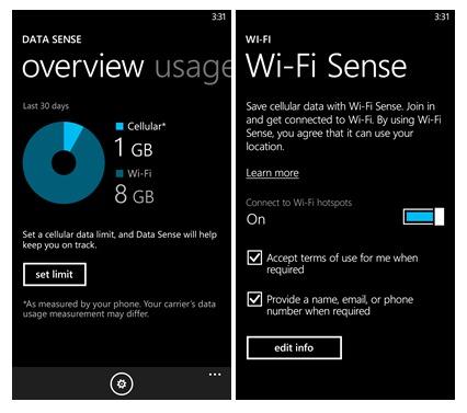 ميزة wi-fi sense في ويندوزفون 8.1