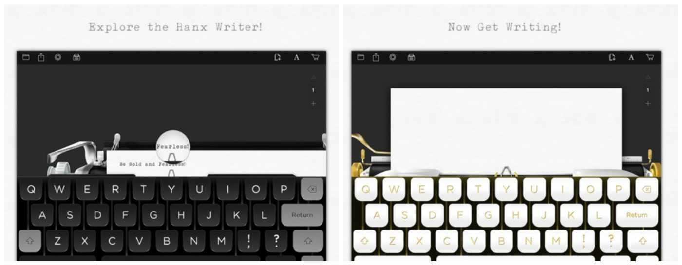 لقطات شاشة من تطبيق توم هانكس لأجهزة آيباد