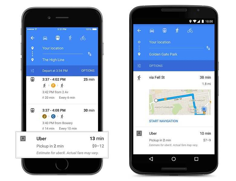التصميم الجديد لتطبيق خرائط جوجل2