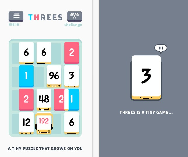 أفضل تطبيقات وألعاب آيفون وآيباد في 2014 Threes  on the App Store on iTunes