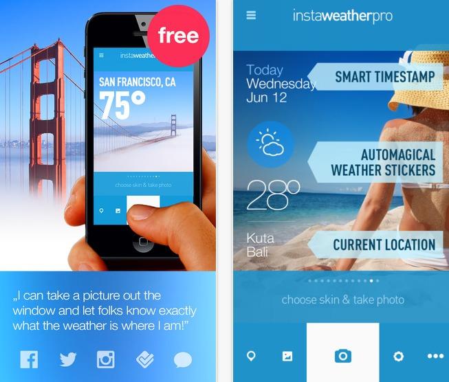 InstaWeather تطبيق الطقس