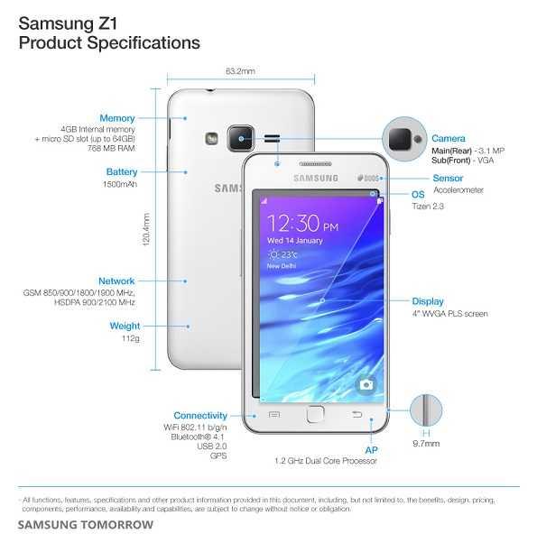 سامسونج تكشف عن أول هاتف بنظام Tizen