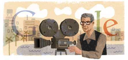 شعار جوجل احتفالا بذكرى ميلاد يوسف شاهين