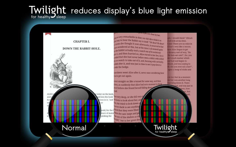 Twilight بظبط ألوان وإضاءة شاشة هاتفك الذكي أو حاسوبك اللوحي حسب الوقت
