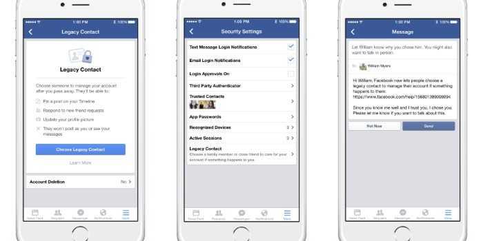 facebook تتيح منح صديق الحق في التحكم في الحساب بعد الوفاة