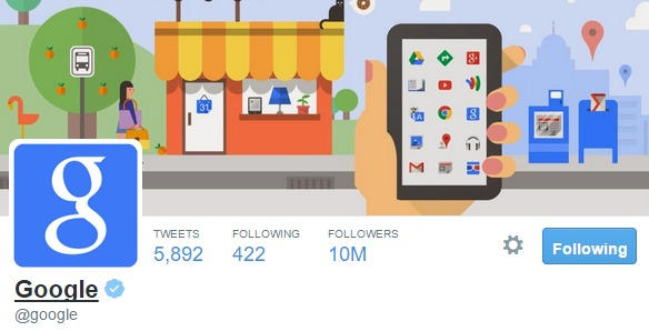 حساب جوجل الرسمي على تويتر