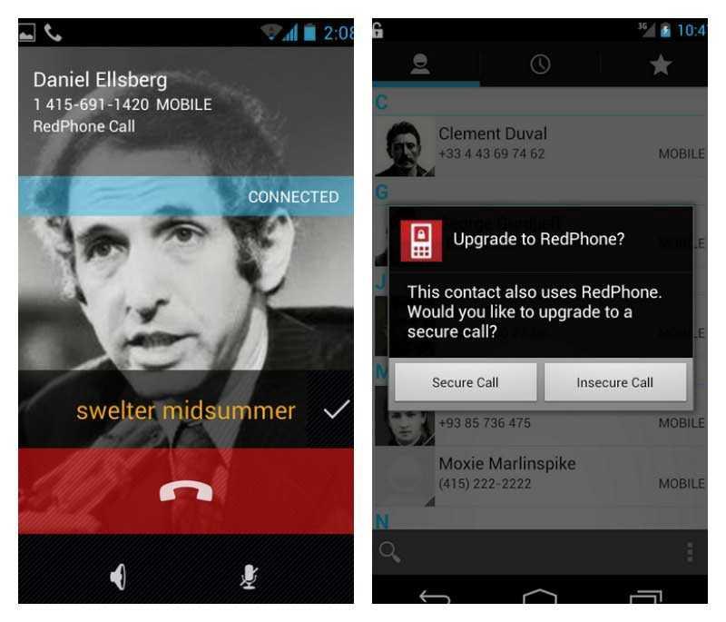 Redphone: تطبيق يوفر إجراء مكالمات صوتية مشفرة