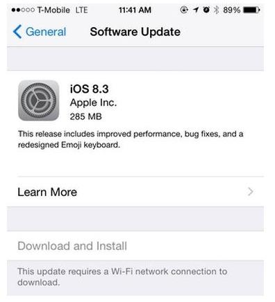 أبل تطلق iOS 8.3