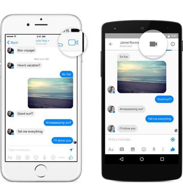 مكالمات الفيديو في فيس بوك ماسنجر إجراء مكالمات مرئية مع أصدقائهم