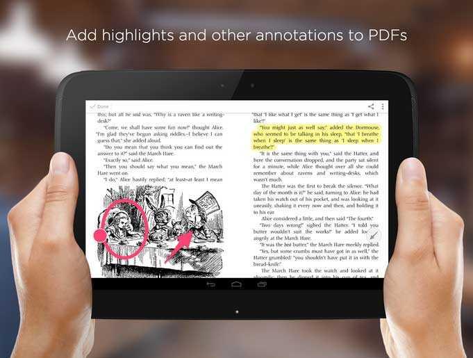 يتيح skitch تمييز النصوص في ملفات pdf