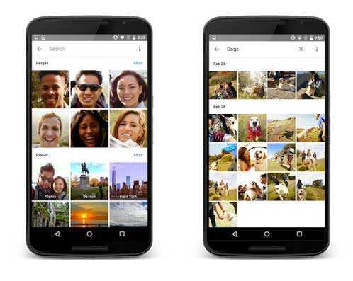تنظم Google Photos الصور تلقائيا