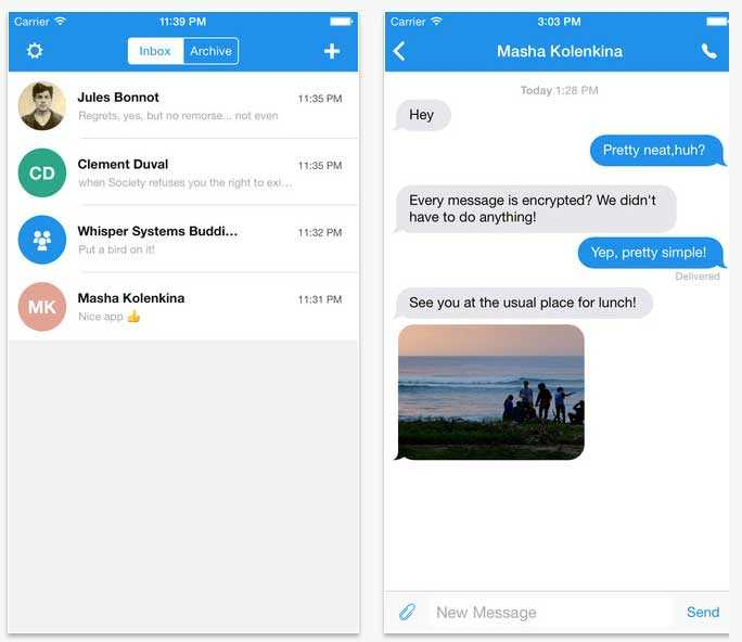 لا يمكن للشركة المطورة لتطبيق TextSecure الإطلاع على رسائل المستخدمين
