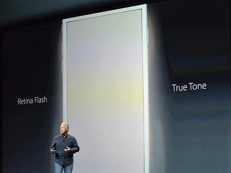 apple-iphone-6s-plus الشاشة تعمل كفلاش للكاميرا الأمامية