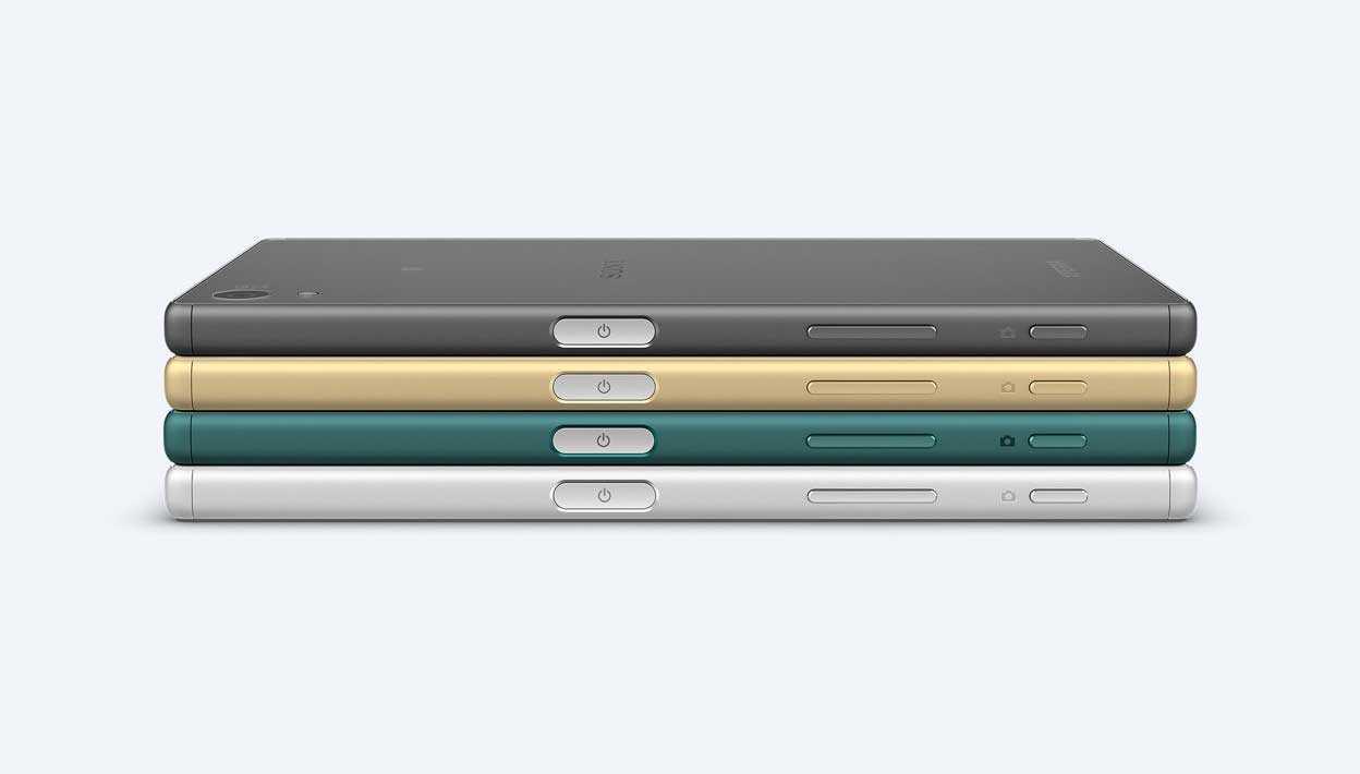 xperia-z5- الألوان والتصميم الجديد لزر الباور