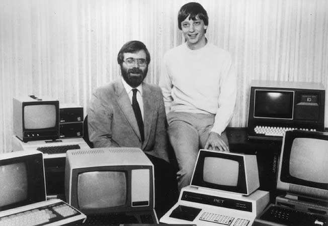 بيل جيتس مع بول الين عام 1981