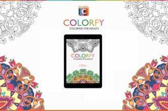 Colorfy: تطبيق يوفر كتب تلوين للكبار مجانا